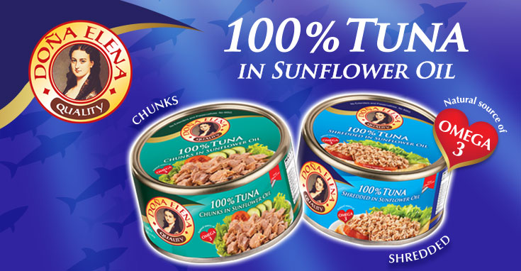 Doña Elena, one of the most preferred brands in pasta, Olive oil and Spanish sardines, now adds canned tuna in their portfolio of products.